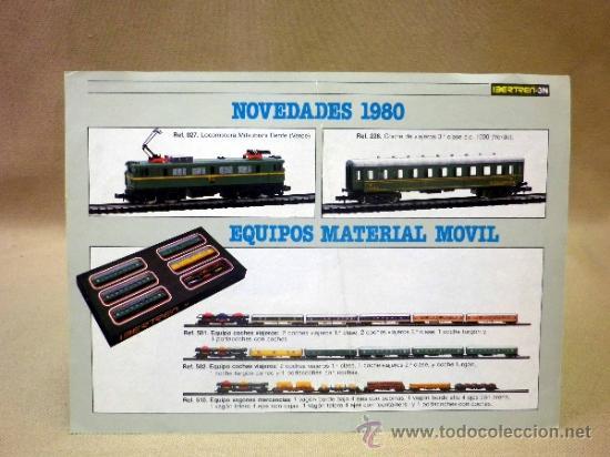 FOLLETO CATALOGO. NOVEDADES 1980. MAQUETA. MATERIAL MÓVIL. IBERTREN. ESCALA 3N (Juguetes - Catálogos y Revistas de Juguetes)