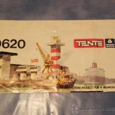 Juguetes antiguos: TENTE ESTACION MARITIMA Y REMOLCADOR REF. 0620 AÑO 1977 INSTRUCCIONES DE MONTAJE. Lote 68425279