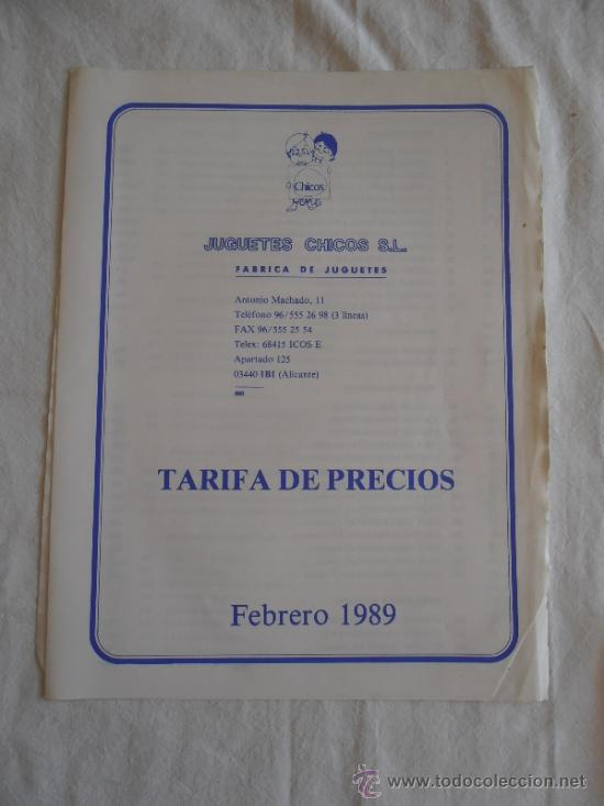 Juguetes antiguos: CATALOGO JUGUETES CHICO 1989 CON TARIFA DE PRECIOS - Foto 9 - 37665742