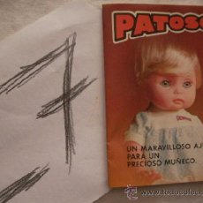 Juguetes antiguos: ANTIGUO CATALOGO PATOSO - ENVIO GRATIS ESPAÑA. Lote 38056462