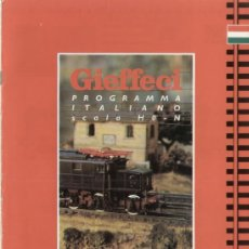 Jouets Anciens: CATÁLOGO GIEFFECI 1993 ROCO PROGRAMMA ITALIANO NOVITÀ HO N - EN ITALIANO. Lote 38927110