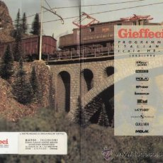 Jouets Anciens: CATÁLOGO GIEFFECI ROCO METROP SACHSEN MODELLE ECC. 1993-94 HO N - EN ITALIANO . Lote 38927708