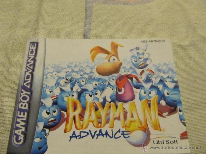 LIBRO DE INSTRUCCIONES GAME BOY ADVANCE NINTENDO RAYMAN (Juguetes - Catálogos y Revistas de Juguetes)