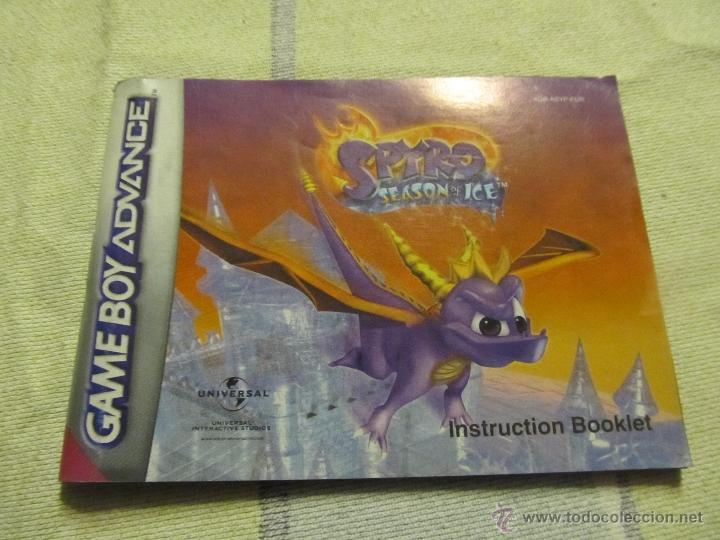 LIBRO DE INSTRUCCIONES GAME BOY ADVANCE NINTENDO SPYRO SEASON OF ICE (Juguetes - Catálogos y Revistas de Juguetes)