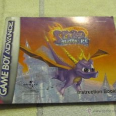 Juguetes antiguos: LIBRO DE INSTRUCCIONES GAME BOY ADVANCE NINTENDO SPYRO SEASON OF ICE. Lote 39446812