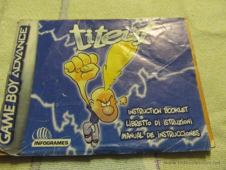 LIBRO DE INSTRUCCIONES GAME BOY ADVANCE NINTENDO TITEUF (Juguetes - Catálogos y Revistas de Juguetes)