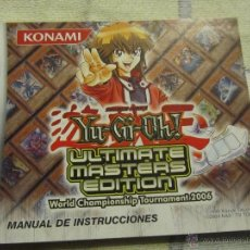 Juguetes antiguos: LIBRO DE INSTRUCCIONES GAME BOY ADVANCE NINTENDO YU GI OH ULTIMATE MASTERS EDITION. Lote 39446855