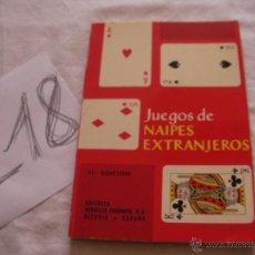 Juguetes antiguos: ANTIGUO LIBRO DE JUEGO DE NAIPES EXTRANJEROS. Lote 39562518