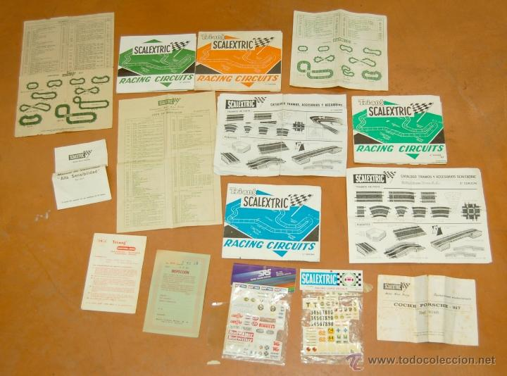 LOTE DE CATÁLOGOS 'SCALEXTRIC TRI-ANG RACING CIRCUITS - VARIAS EDICIONES Y OTROS FOLLETOS (Juguetes - Catálogos y Revistas de Juguetes)