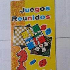 Juguetes antiguos: REGLAMENTO JUEGOS REUNIDOS GEYPER . Lote 39896718