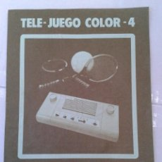 Juguetes antiguos: INTRUCCIONES TELE JUEGO COLOR 4 TRW . Lote 39935485