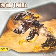 Juguetes antiguos: BIONICLE 8538 - LEGO TECHNIC - INSTRUCCIONES. Lote 40008409