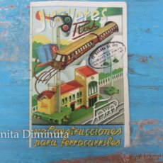 Juguetes antiguos: ANTIGUO Y PRECIOSO CATALOGO DE RAI Y PAYA - JUGUETES - Nº 2 - CONSTRUCCIONES PARA FERROCARRILES - OR. Lote 40795070