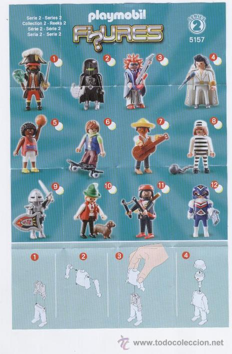 Juguetes antiguos: FOLLETO * PLAYMOBIL FIGURES * SERIES 2 5157 - 2011 GEOBRA - Foto 1 - 40902625