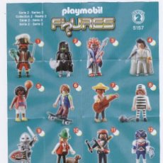 Juguetes antiguos: FOLLETO * PLAYMOBIL FIGURES * SERIES 2 5157 - 2011 GEOBRA. Lote 40902625