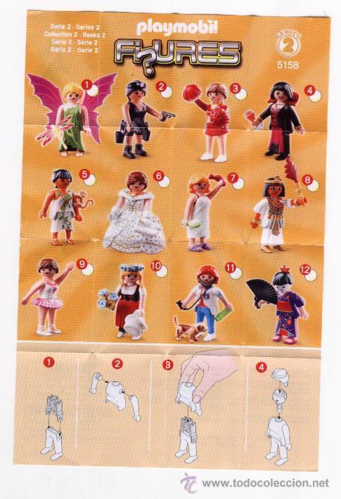 FOLLETO * PLAYMOBIL FIGURES * SERIES 2 5158 - 2011 GEOBRA (Juguetes - Catálogos y Revistas de Juguetes)