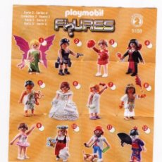 Juguetes antiguos: FOLLETO * PLAYMOBIL FIGURES * SERIES 2 5158 - 2011 GEOBRA. Lote 40902957