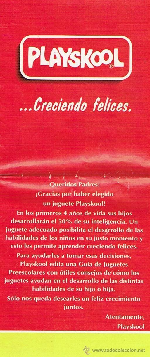 PLAYSKOOL CATALOGO (Juguetes - Catálogos y Revistas de Juguetes)