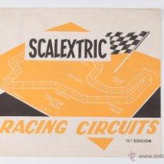 Juguetes antiguos: CATALOGO DE RACING CIRCUITS, DE LA MARCA SCALEXTRIC, 15ª EDICION. Lote 41136384