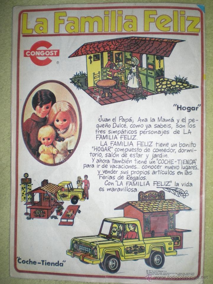 ANTIGUO ANUNCIO PUBLICITARIO DE MUÑECAS FAMILIA FELIZ DE CONGOST AÑOS 70 (Juguetes - Catálogos y Revistas de Juguetes)