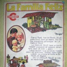 Juguetes antiguos: ANTIGUO ANUNCIO PUBLICITARIO DE MUÑECAS FAMILIA FELIZ DE CONGOST AÑOS 70 . Lote 41252730