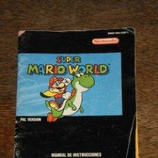 Juguetes antiguos: CATALOGO - MANUAL DE INSTRUCCIONES - SUPER MARIO WORLD – SUPERNINTENDO -ERBE -1992. Lote 41257853