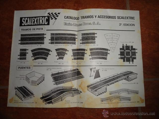 FOLLETO CATALOGO TRAMOS Y ACCESORIOS SCALEXTRIC CLUB EXIN 2ª EDICION 1968 (Juguetes - Catálogos y Revistas de Juguetes)
