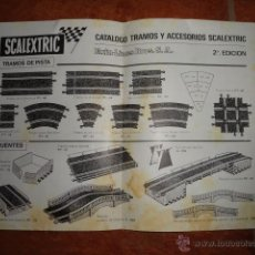 Juguetes antiguos: FOLLETO CATALOGO TRAMOS Y ACCESORIOS SCALEXTRIC CLUB EXIN 2ª EDICION 1968. Lote 41387474