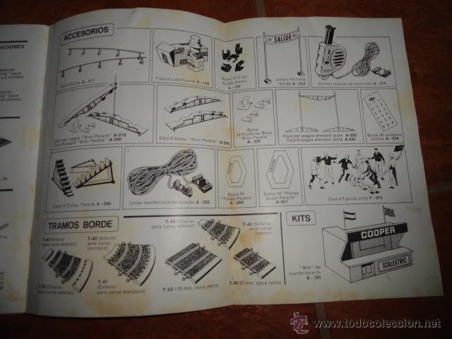Juguetes antiguos: FOLLETO CATALOGO TRAMOS Y ACCESORIOS SCALEXTRIC CLUB EXIN 2ª EDICION 1968 - Foto 3 - 41387474