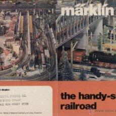 Juguetes antiguos: CATÀLOGO MÄRKLIN BROCHURE 1976 SCALE HO THE HANDY-SIZED RAILROAD - EN INGLÉS. Lote 41421017
