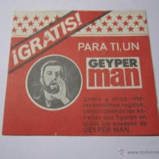 Juguetes antiguos: CARNET DE GEYPER MAN PUNTOS ESTRELLA. Lote 41495882