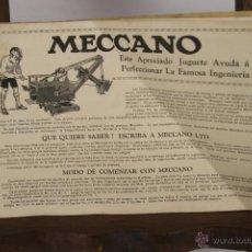 Juguetes antiguos: 4507- INSTRUCCIONES DE MECCANO Nº 00 A 3. EDICION ESPAÑOLA. EDIT. MECCANO LIVERPOOL. S/F. . Lote 41526100