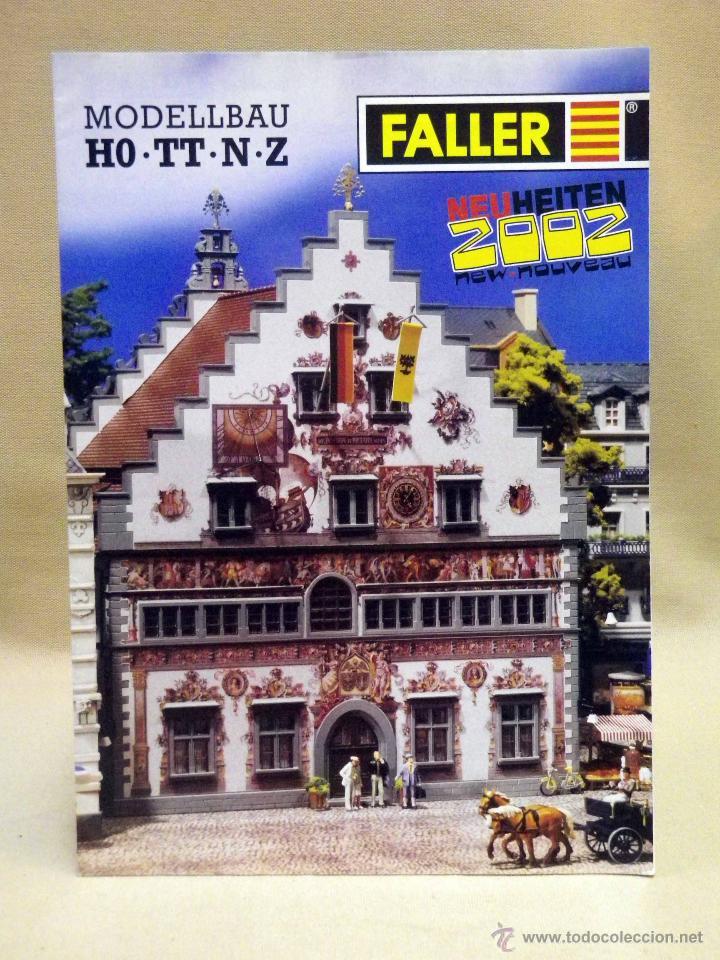 CATALOGO FALLER, 2002, MAQUETAS DE TREN, TRENES, 32 PAGINAS (Juguetes - Catálogos y Revistas de Juguetes)