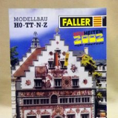 Juguetes antiguos: CATALOGO FALLER, 2002, MAQUETAS DE TREN, TRENES, 32 PAGINAS. Lote 42214317