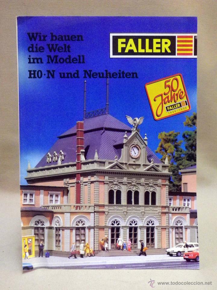 CATALOGO FALLER, 1996, MAQUETAS DE TREN, TRENES, 12 PAGINAS (Juguetes - Catálogos y Revistas de Juguetes)