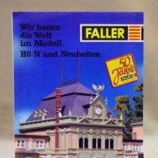 Juguetes antiguos: CATALOGO FALLER, 1996, MAQUETAS DE TREN, TRENES, 12 PAGINAS. Lote 42214351