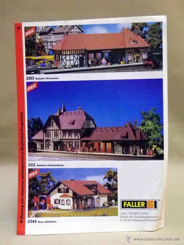 Juguetes antiguos: CATALOGO FALLER, 1996, MAQUETAS DE TREN, TRENES, 12 PAGINAS - Foto 4 - 42214351