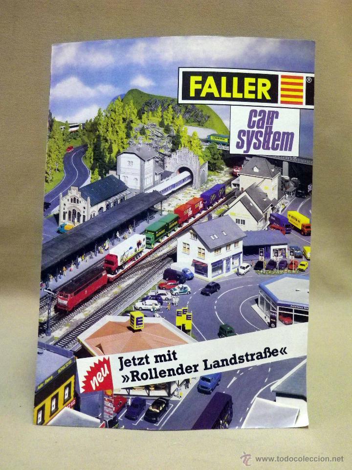 CATALOGO FALLER, SISTEMAS DE COCHES, MAQUETAS TREN, TRENES, 12 PAGINAS (Juguetes - Catálogos y Revistas de Juguetes)