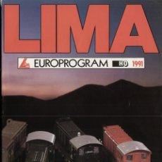 Juguetes antiguos: CATÀLOGO LIMA EUROPROGRAM 1991 HO SCALE 1:87 + PRIX LIT- EN ITALIANO, FRANCÉS, ALEMÁN E INGLÉS. Lote 42541568