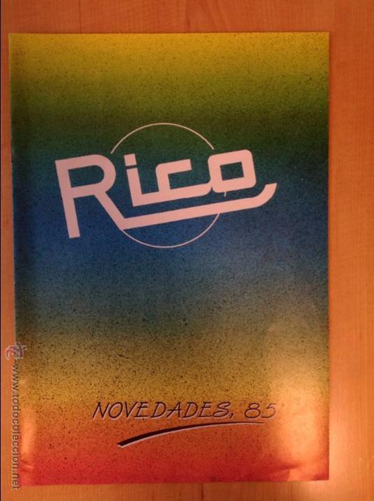 CATALOGO DE RICO DE 1985 (Juguetes - Catálogos y Revistas de Juguetes)