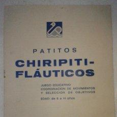 Juguetes antiguos: MANUAL INSTRUCCIONES JUEGO LOS PATITOS CHIRIPITIFLAUTICOS. Lote 42936001