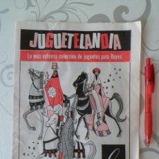 Juguetes antiguos: CATALOGO DE NAVIDAD DE JUGUETES - JUGUETELANDIA DE ALMACENES GAY - 1969 - RARO. Lote 43618628