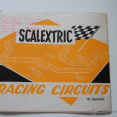 Juguetes antiguos: CATALOGO SCALEXTRIC RACING CIRCUITS TRIANG 15 ª EDICION CASA PALAU. Lote 43830265