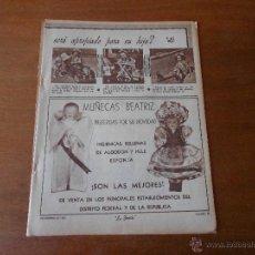 Juguetes antiguos: ANTIGUA PUBLICIDAD ORIGINAL EN PRENSA: MUÑECA BEATRIZ, AÑO 1951. Lote 43873022