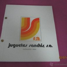 Juguetes antiguos: NADA COMÚN CATALOGO GENERAL DE JUGUETES SANCHIS DE IBI - AÑO 1982. Lote 44072341