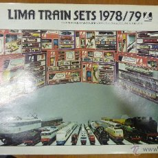 Juguetes antiguos: CATALOGO TREN TRENES . LIMA TRAIN SETS 1978 / 79 . Lote 44078761