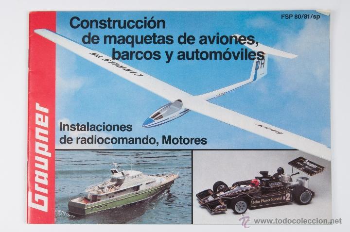 CATALOGO GRAUPNER FSP 80/81/SP CONSTRUCCION DE MAQUETAS DE AVIONES, BARCOS Y AUTOMOVILES (Juguetes - Catálogos y Revistas de Juguetes)
