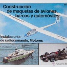 Juguetes antiguos: CATALOGO GRAUPNER FSP 80/81/SP CONSTRUCCION DE MAQUETAS DE AVIONES, BARCOS Y AUTOMOVILES. Lote 44174287