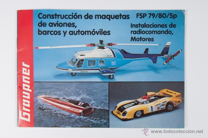 CATALOGO GRAUPNER FSP 79/80/SP CONSTRUCCION DE MAQUETAS DE AVIONES, BARCOS Y AUTOMOVILES (Juguetes - Catálogos y Revistas de Juguetes)