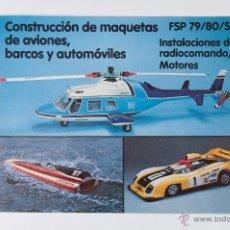 Juguetes antiguos: CATALOGO GRAUPNER FSP 79/80/SP CONSTRUCCION DE MAQUETAS DE AVIONES, BARCOS Y AUTOMOVILES. Lote 44174312